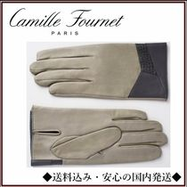 Camille Fournet Blended Fabrics Leather Leather & Faux Leather Gloves