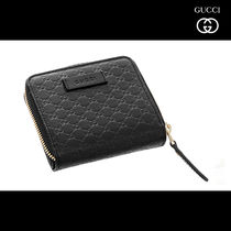 GUCCI Monogram Unisex Leather Folding Wallets