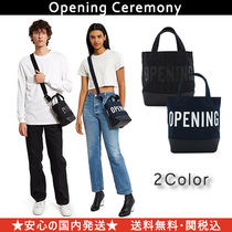 OPENING CEREMONY Casual Style Unisex Street Style Totes