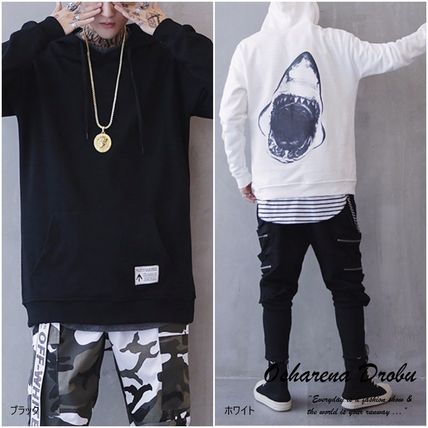 Sweatshirts Pullovers Long Sleeves Plain Other Animal Patterns Oversized