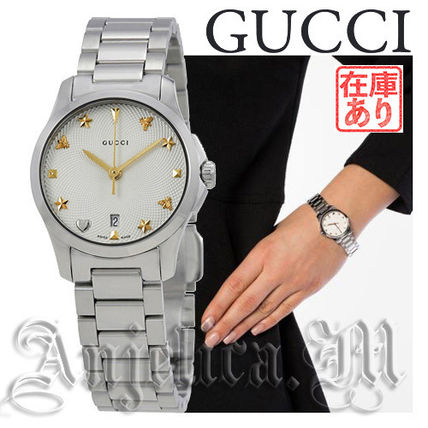 a3d5afff8ad ... GUCCI Analog Round Quartz Watches Stainless Elegant Style Analog Watches  ...