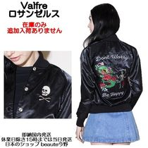 Valfre Short Skull Casual Style Street Style Souvenir Jackets