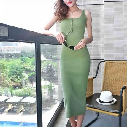 Dresses Tight Sleeveless Plain Long Dresses 6