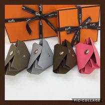 HERMES Bolide Leather Coin Purses