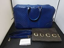 GUCCI A4 2WAY Leather Boston Bags
