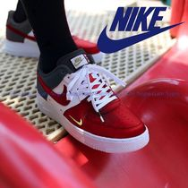 Nike AIR FORCE 1 Blended Fabrics Leather Low-Top Sneakers