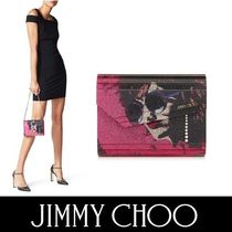 Jimmy Choo Blended Fabrics 2WAY Chain Leather Party Style Clutches