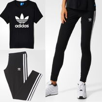 adidas Casual Style Street Style U-Neck Plain Cotton Medium