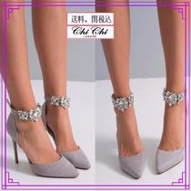 Chi Chi London Plain Pin Heels With Jewels Heeled Sandals