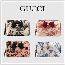 GUCCI GG Marmont Flower Patterns Canvas Blended Fabrics