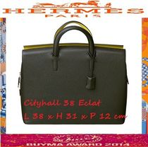 HERMES Calfskin A4 Handmade Business & Briefcases