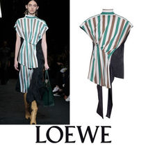 LOEWE Stripes Casual Style Long Short Sleeves Shirts & Blouses