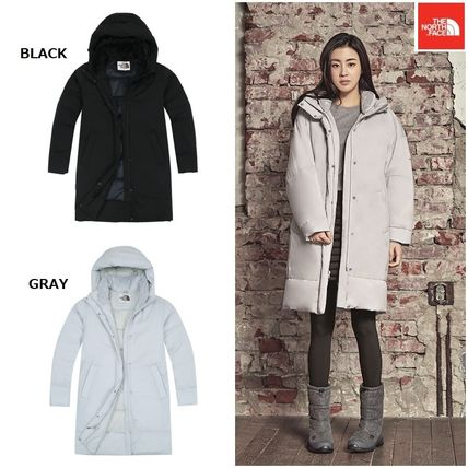 Argile Wool Street Style Plain Long Down Jackets