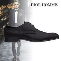 DIOR HOMME Plain Toe Plain Leather Oxfords