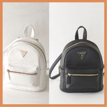 Guess Casual Style Faux Fur Backpacks