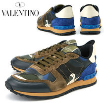 VALENTINO Camouflage Leather Sneakers