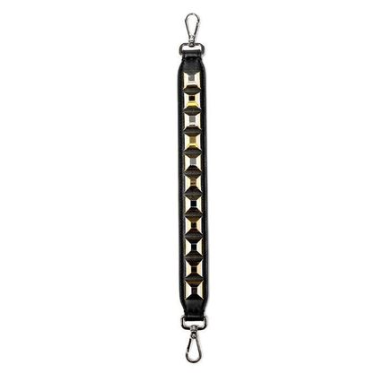 Strap U With Gold & Silver Studs / Black