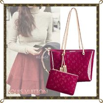 Louis Vuitton MONOGRAM VERNIS Monogram Blended Fabrics Tassel Bag in Bag A4 Bi-color