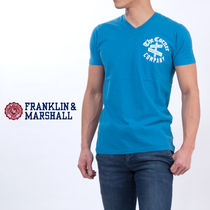 Franklin and Marshall Pullovers Street Style V-Neck Plain Cotton Short Sleeves
