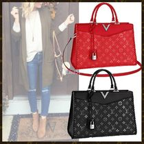 Louis Vuitton MONOGRAM Monogram Blended Fabrics 3WAY Leather Elegant Style Totes