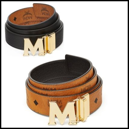 Monoglam Unisex Plain Leather Belts