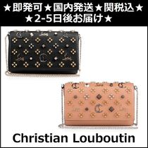 Christian Louboutin Paloma Street Style 2WAY Chain Plain Leather Party Style Clutches