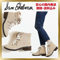 Sam Edelman Mountain Boots Round Toe Rubber Sole Casual Style Unisex
