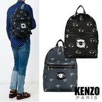 KENZO Nylon Street Style A4 Backpacks