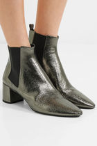 Saint Laurent Leather Ankle & Booties Boots