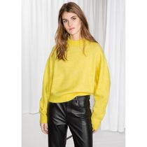 & Other Stories Casual Style Wool Plain High-Neck Oversized Puff Sleeves