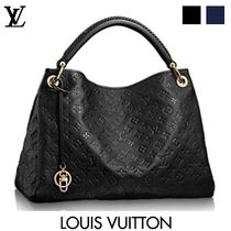 Louis Vuitton ARTSY Monogram Tassel Bi-color Leather Elegant Style Handbags