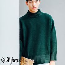 Long Sleeves Plain Oversized Knits & Sweaters