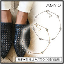 AMY O Handmade Silver 14K Gold Elegant Style Anklets