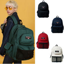 VETEZE Casual Style Unisex Street Style A4 Plain Backpacks