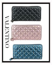 VALENTINO Studded Leather Long Wallets