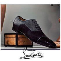 Christian Louboutin Straight Tip Suede Blended Fabrics Plain Oxfords