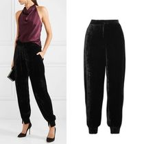 Stella McCartney Velvet Plain Long Culottes & Gaucho Pants