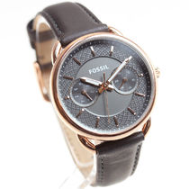 Fossil Casual Style Leather Round Quartz Watches Analog Watches