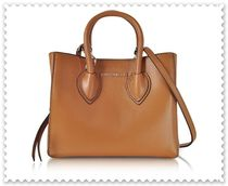 COCCINELLE 2WAY Plain Leather Elegant Style Crossbody Totes