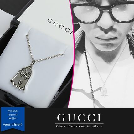 bd818ee4e47 ... GUCCI Necklaces   Chokers Unisex Street Style Chain Silver Necklaces ...