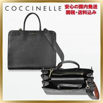 COCCINELLE Unisex 2WAY Plain Leather Office Style Totes