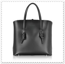 COCCINELLE Unisex Bag in Bag Plain Leather Office Style Crossbody Totes