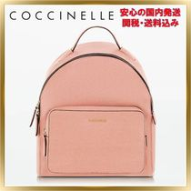COCCINELLE Casual Style 2WAY Plain Leather Backpacks