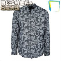 EMPORIO ARMANI Camouflage Long Sleeves Cotton Shirts