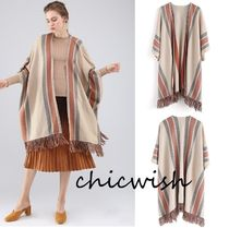 Chicwish Stripes Tassel Medium Ponchos & Capes