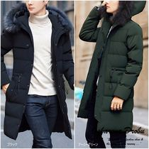 Faux Fur Plain Long Oversized Parkas