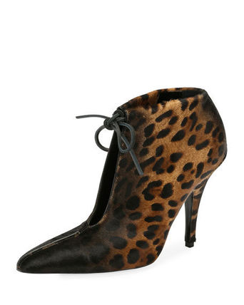 Leopard Patterns Pin Heels Ankle & Booties Boots
