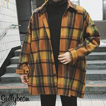 Other Check Patterns Street Style Coats
