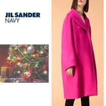 Jil Sander Wool Plain Medium Elegant Style Coats