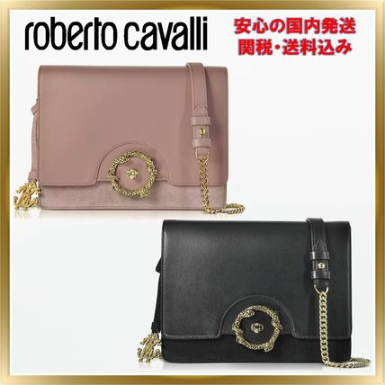 Suede Chain Plain Elegant Style Shoulder Bags